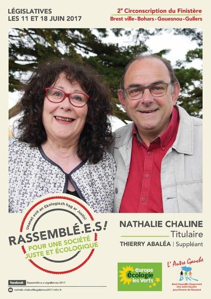 """""""Rassemblé.e.s !"""" Profession de foi de Nathalie CHALINE"""