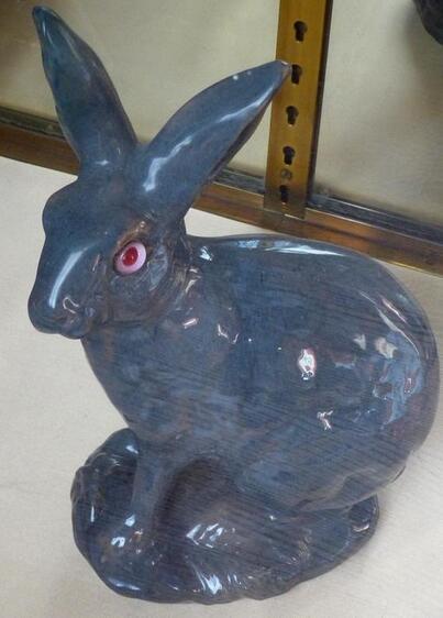 14 - Les lapins en céramique, faïence ou porcelaine