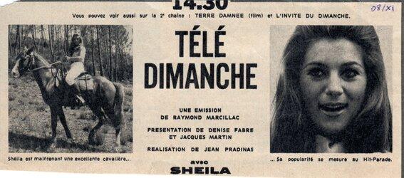 08 novembre 1970 / TELE DIMANCHE + Bonus exclusifs !