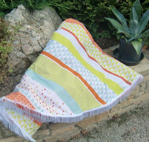 Une serviette de plage ronde