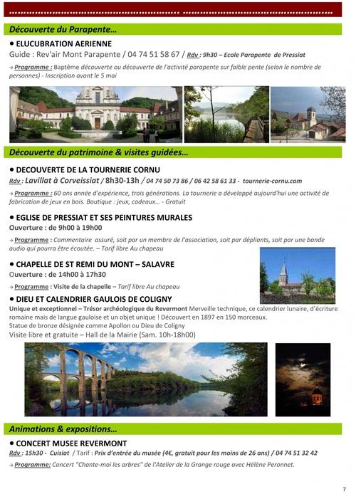 Programme Destination Revermont 2012