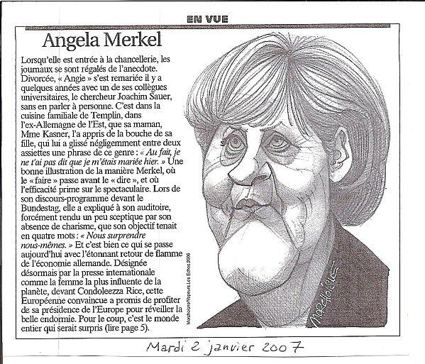 Angela Merkel - Les Echos