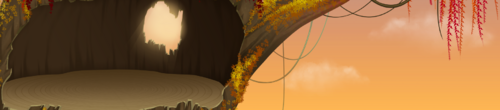 Arbre automne (cabane)