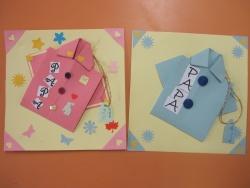cartes chemise pour la fête des pères