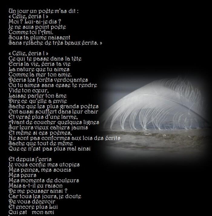 Poésie.... Un jour un poète m'a dit