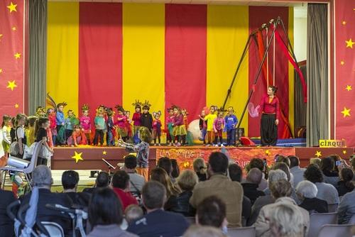 """""""Cirque à l'école 2015 """" projet d'A.J.Tations Artistique à l'école de Bize Minervois"""
