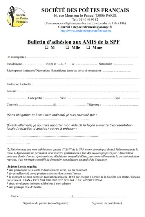 Bulletin Amis SPF