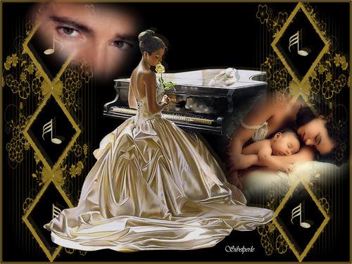 femme piano