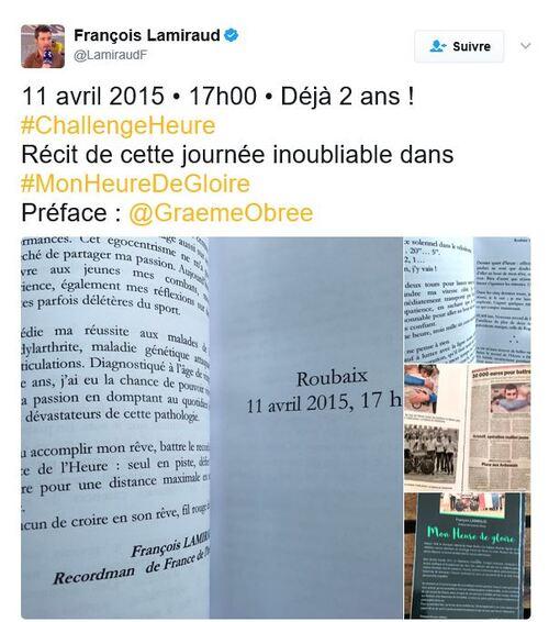 François LAMIRAUD: Recorman de l'heure …
