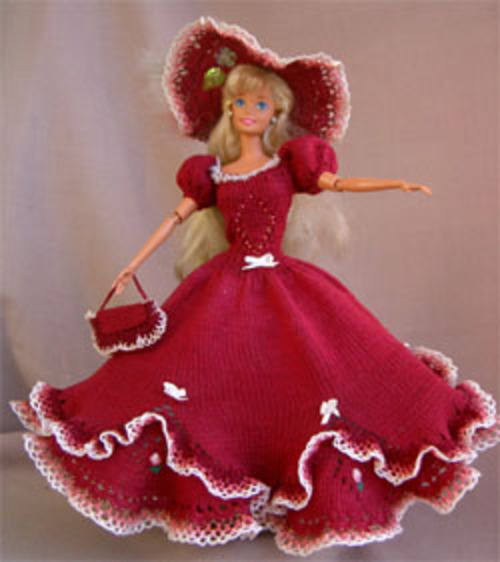Barbie: robes tricot en russe, elles me font rêver