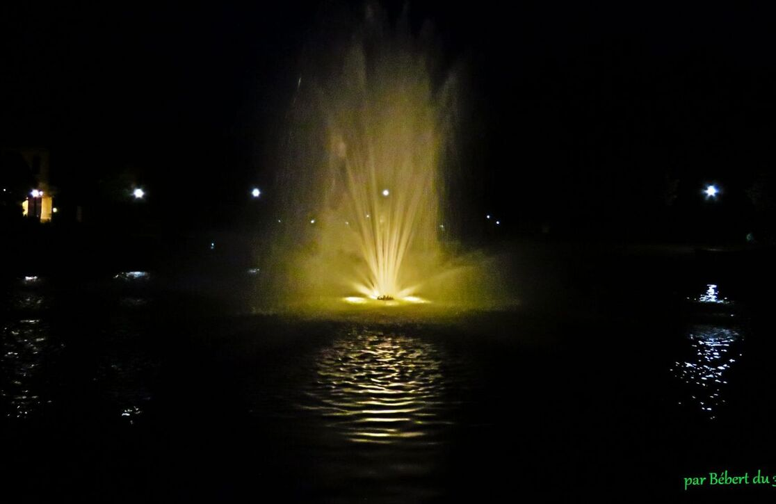jet d'eau de nuit !