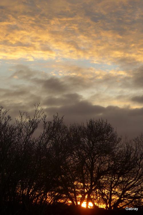 Soleil du soir : reflets sur des vitres ...