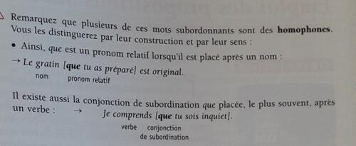 A / Le mot QUE