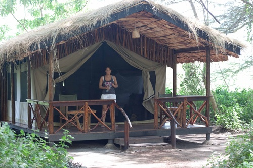 "Notre ""tente"" au Mingunga Forest Camp"