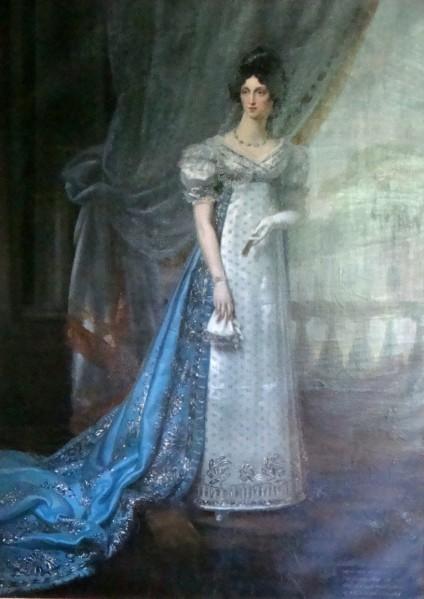 Chambre Dino Duchesse de Dino, peinte en robe d'apparat par