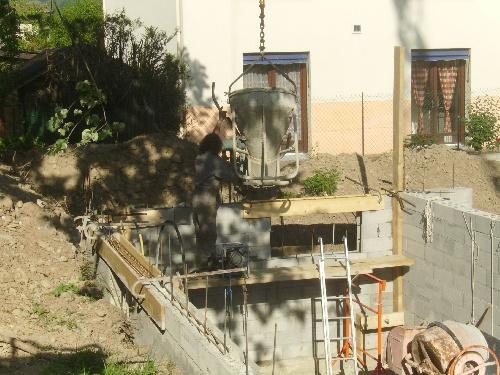 suite coffrage,coulée beton, et tamis...(7 et 8 mai)
