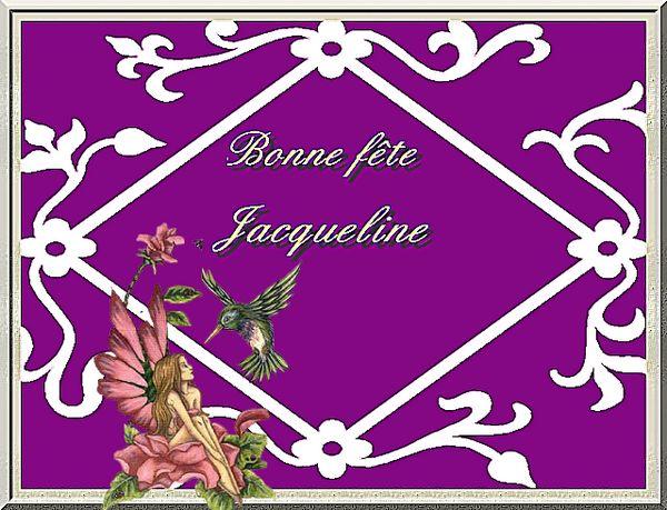 bonne fête Jacqueline