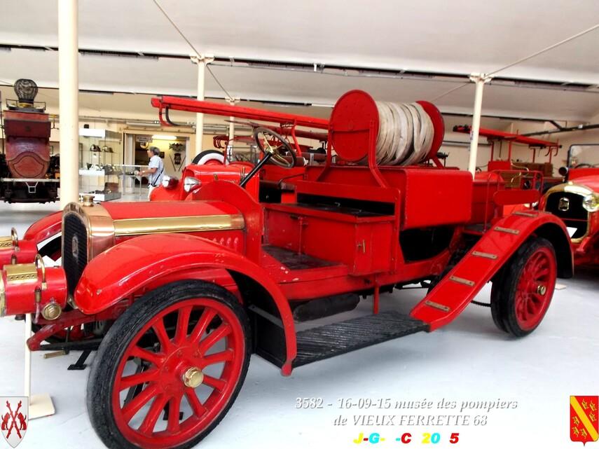 Musée du Sapeur Pompier d'ALSACE  3/4  06/26   VIEUX FERRETTE  68   D  03-03-2016