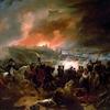 Un combat acharné pour la ville de Smolensk (1812) peinture de Jean Charles Langlois