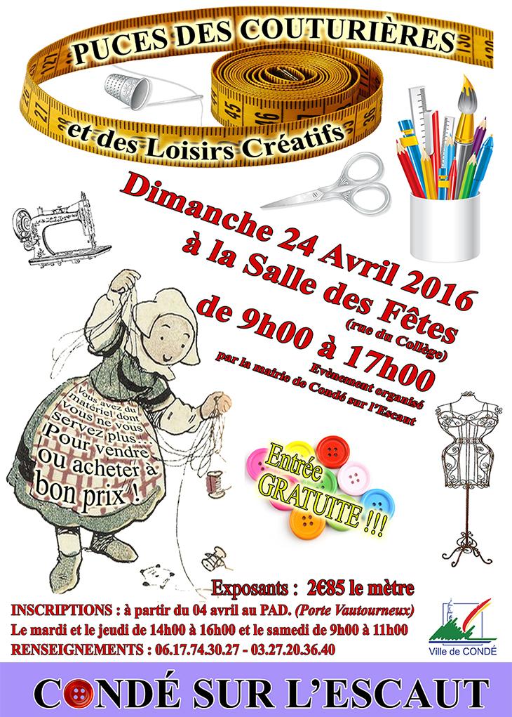 Puces de Couturières, Condé-sur-l'Escaut le 24 avril