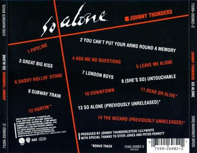 Un classique: Johnny Thunders - So Alone (1992)