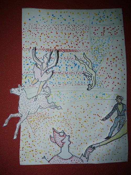 """A la manière de Georges Seurat """"Le cirque"""""""