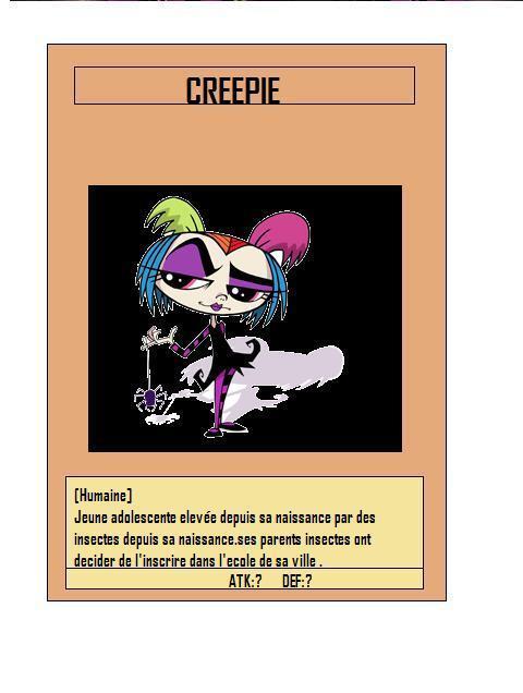 carte representant creepie