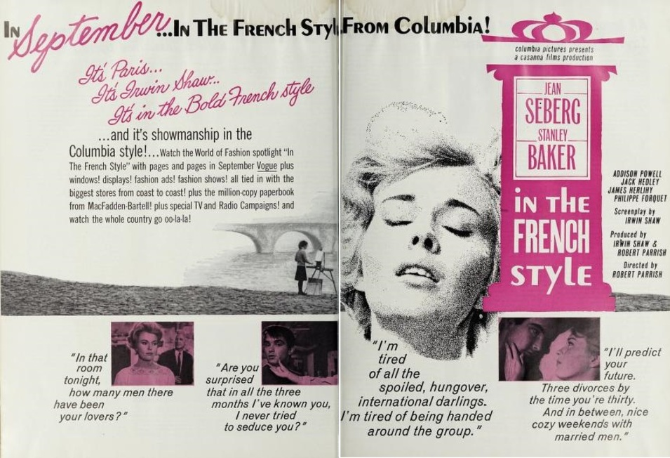 IN THE FRENCH STYLE BOX OFFICE USA 1963