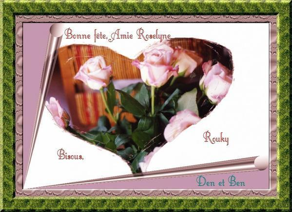 Carte Bonne Fete Roselyne.Bonne Fete Roselyne Le Domaine De Rouky Et Phiphi