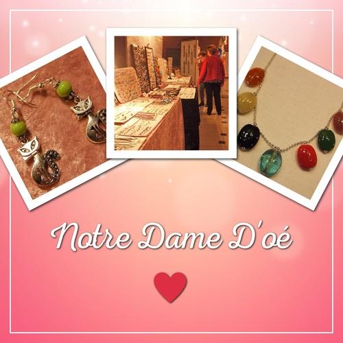 Exposition de mes bijoux à Notre Dame D'oé les 10 et 11 février 2018