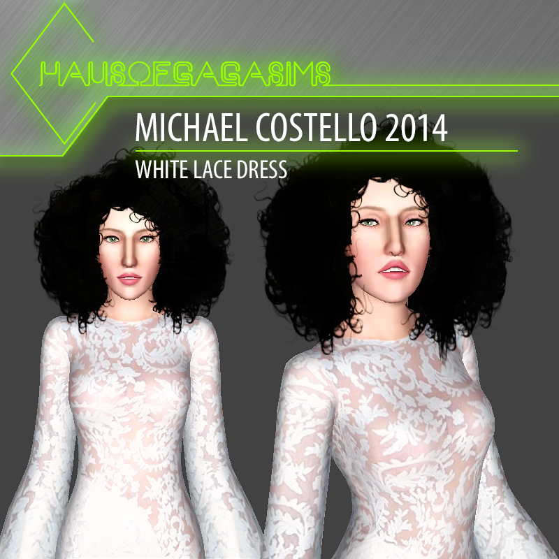 MICHAEL COSTELLO 2014 WHITE LACE DRESS
