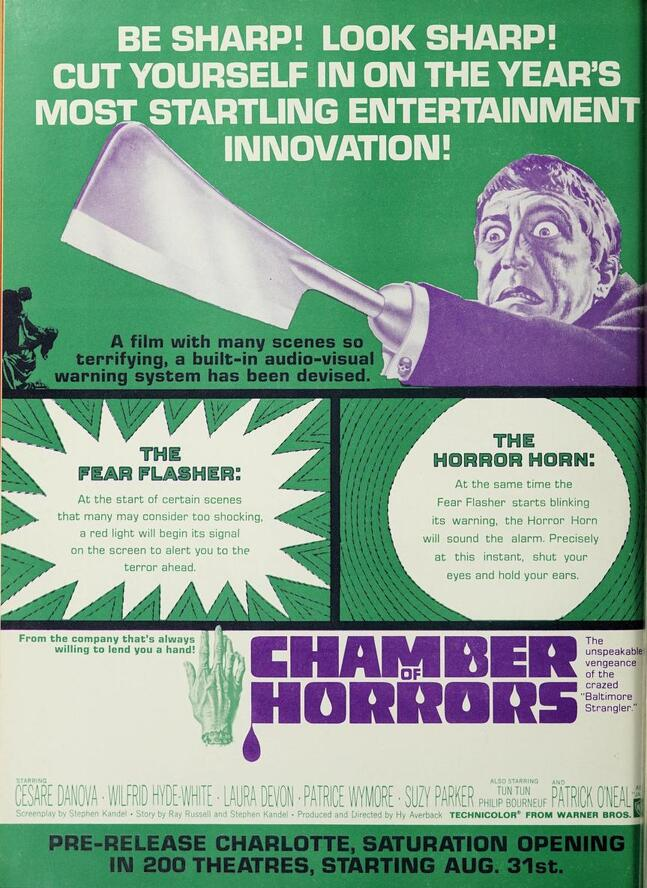 CHAMBER OF HORRORS box office USA 1966