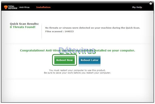 Total Defense Anti-Virus - Licence 10 mois gratuits