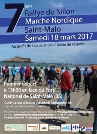 Marche Nordique sur Saint Malo - Samedi 18 mars 2017