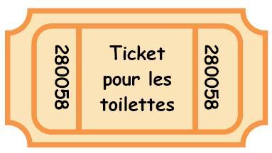 Tickets pour les toilettes, gestion classe, comportement