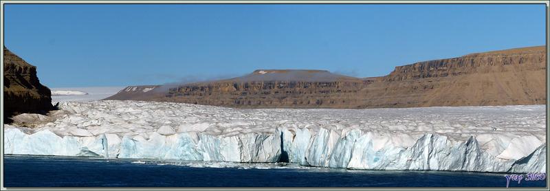 Le front du glacier de Crocker Bay - Devon Island - Baffin Bay - Nunavut - Canada