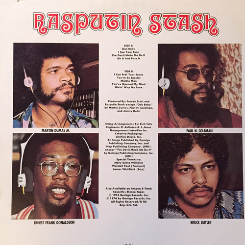 "Rasputin Stash : Album "" Devil Made Me Do It "" Gemigo Records GMS 1000 [ US ] en 1974"