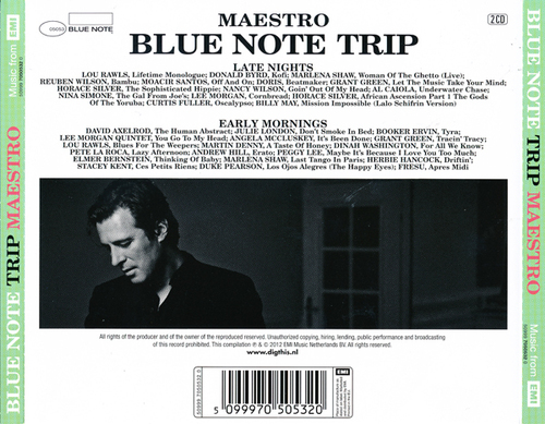 Blue Note Trip Volume 10 Maestro : Late Nights/Early Mornings CD Blue Note Records 50999 0288902 3 [ NL ]