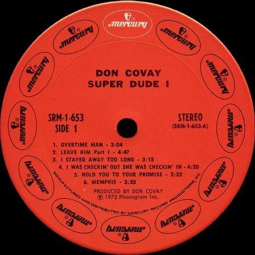 "Don Covay : Album "" Super Dude I "" Mercury Records SRM-1-653 [ US ]"
