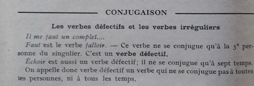 F / Les verbes irréguliers