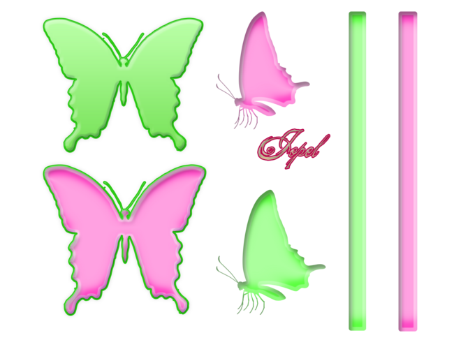Kit rose et vert tendre (ÉTÉ)