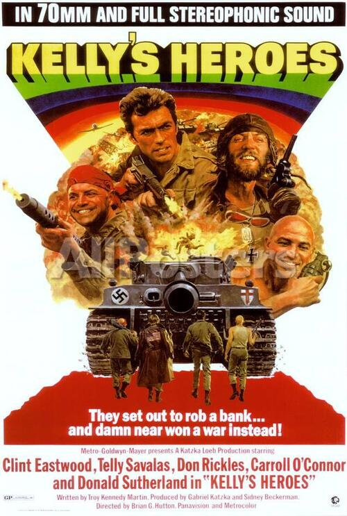 KELLY'S HEROES US POSTER 1970