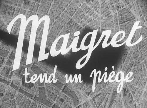 MAIGRET TEND UN PIEGE - BOX OFFICE JEAN GABIN 1958