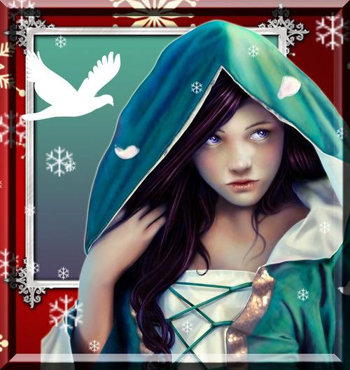 femme moyenageuse en hiver