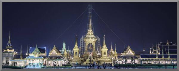 Thaïlande. Préparation pour la crémation du Roi