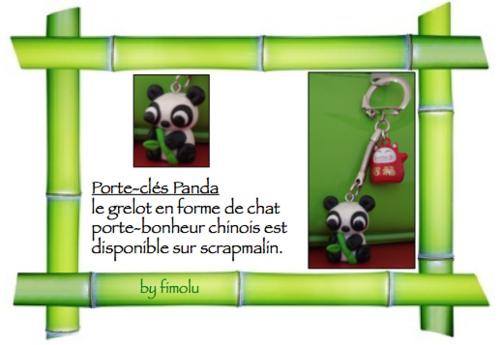 création 2013-8: porte-clés panda