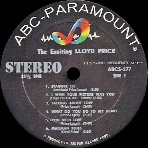"Lloyd Price : Album "" The Exciting Lloyd Price "" ABC-Paramount Records ABCS-277 [ US ]"