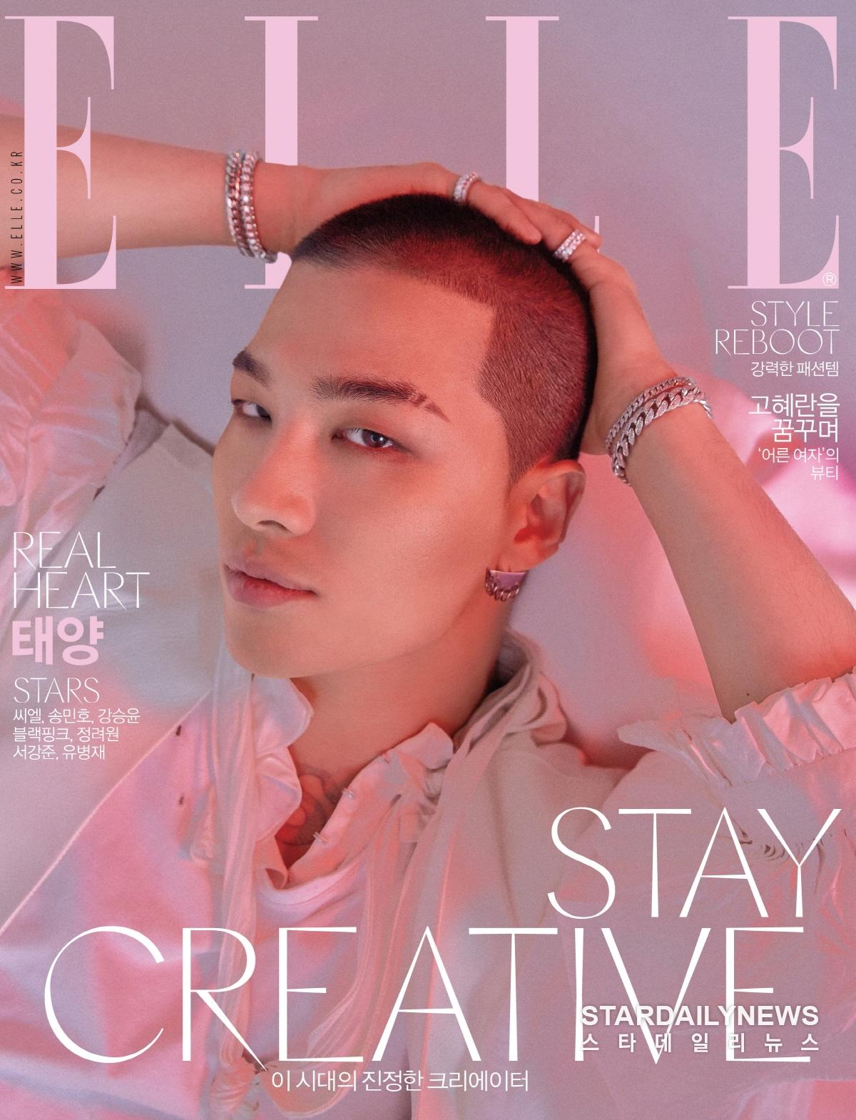 Taeyang pour le magazine Elle Korea (04/2018)