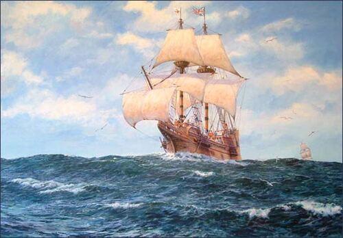 Le Mayflower - vaisseau