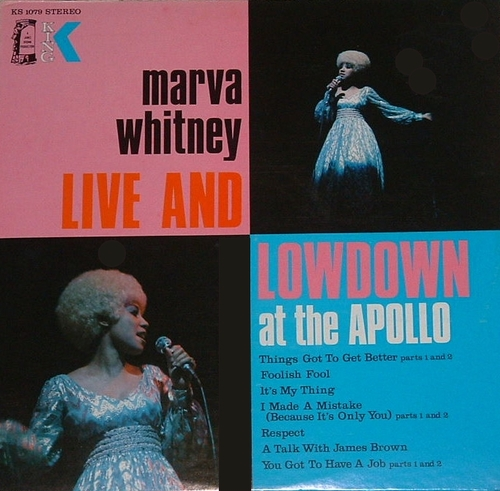 "Marva Whitney : Album "" Live & Lowdown At The Apollo "" King Records KS 1079 [ US ]"